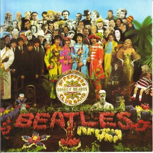 The cover of the Beatles' Sgt Pepper's Lonely Hearts Club Band, designed by Peter Blake