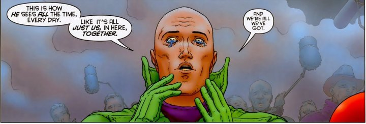 Panel from All-Star Superman 12, written by Grant Morrison, pencils Frank Quitely, digital inks and colours Jamie Grant