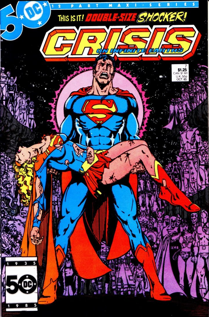 Cover of Crisis On Infinite Earths 7, by George Perez