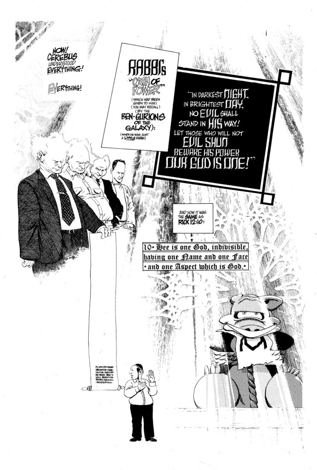 The Ben-Gurions Of The Galaxy - even when the content got... unusual... the craft in Cerebus can't be bettered. From Latter Days