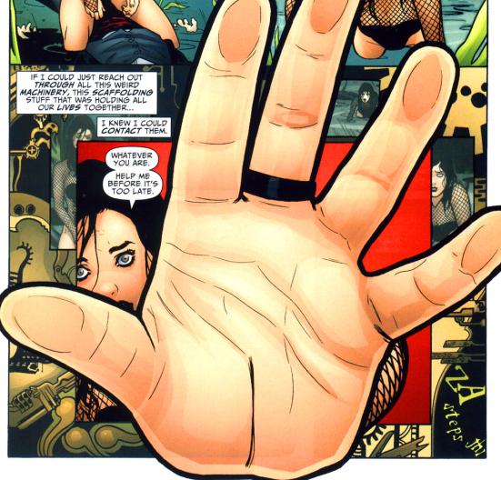 Hands... touching hands... reaching out... touching me... touching you