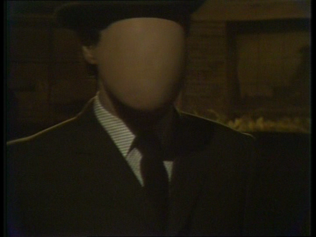 A man with no face